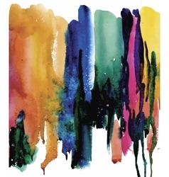 Colorful watercolor abstract background vector image