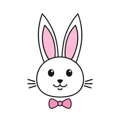 Cute rabbit icon vector