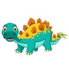funny stegosaurus cartoon posing vector image