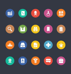 Glyphs colored icons 39 vector