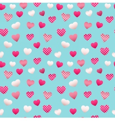Happy Valentines Day Seamless Pattern with Hearts vector image