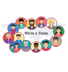 horizontal banner - we are a team vector image