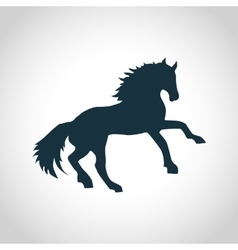 Horse black silhouette vector image vector image