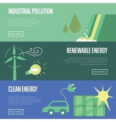 Industrial pollution renewable and clean energy vector