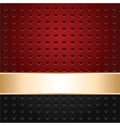 perforated hearts background vector image