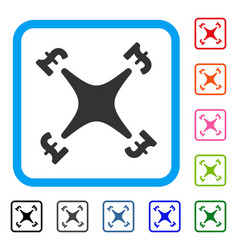 pound business drone framed icon vector image vector image