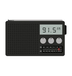 radio portable isolated icon design vector image