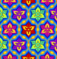 Rangoli seamless pattern vector