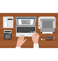 Secretary workplace vector image vector image