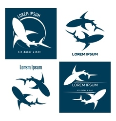 Sharks logo vector