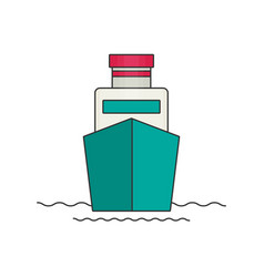 ship flat vector image