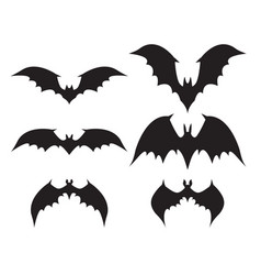 Silhouette of bat with big wings vector