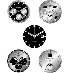 smart watch faces vector image