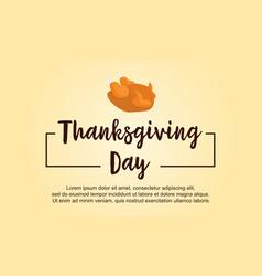 Thanksgiving day style greeting card vector
