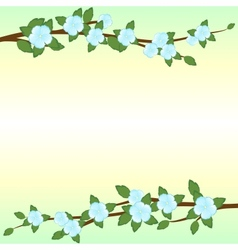The branches of apple trees vector image