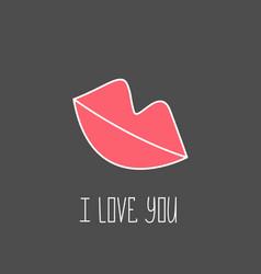 valentine s day design element hand drawn element vector image vector image