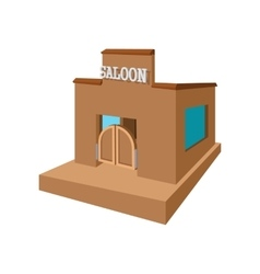 Western saloon cartoon icon vector