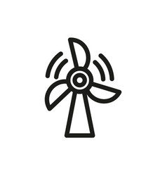 wind power icon on white background vector image