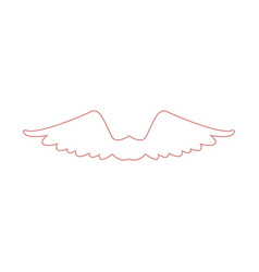 wing feather fly freedon symbol vector image
