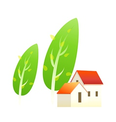 Icon house and tree vector