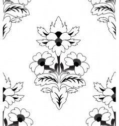 Seamless a repeating flower pattern vector