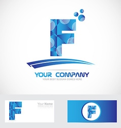 Letter f blue logo icon vector
