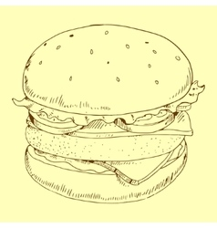 Hamburger meal vector
