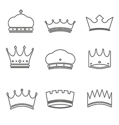 Basic crown icons design vector