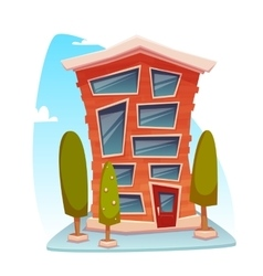 Office building cartoon concept vector