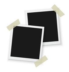 Blank vintage photo frame mockup isolated vector