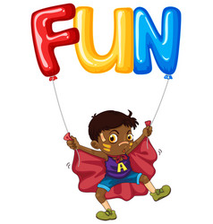 boy and balloon for word fun vector image vector image