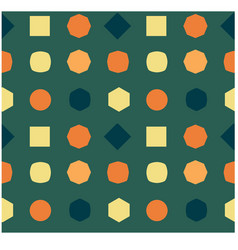 Changing shapes seamless pattern vector