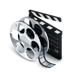 Cinema concept realistic vector