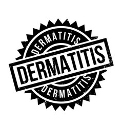 Dermatitis rubber stamp vector