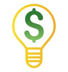 Electricity price gradient icon vector