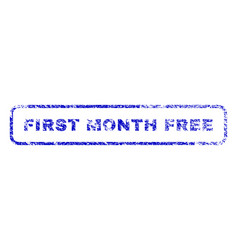 First month free rubber stamp vector