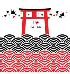 Fushimi inari taisha shrine in kyoto japan vector