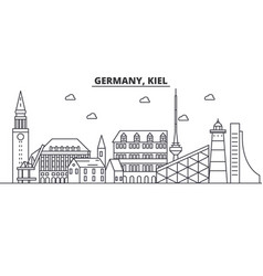 germany kiel architecture line skyline vector image vector image
