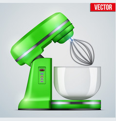 green stand mixer vector image vector image