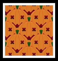 Halloween Pumpkin Seamless Pattern Background vector image