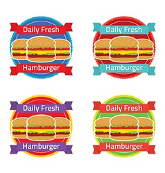 Hamburger Label Set vector image vector image