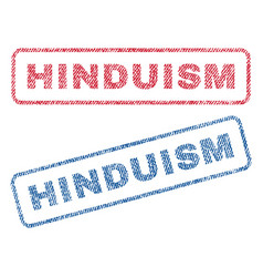 Hinduism textile stamps vector
