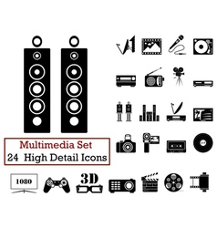 icon set multimedia vector image