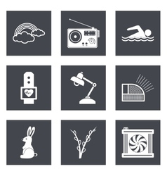 Icons for Web Design set 25 vector image vector image