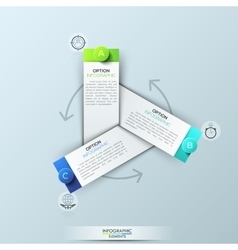Infographic design template with 3 rectangular vector