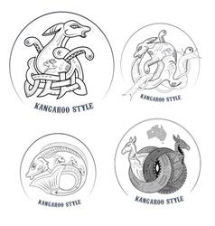 kangaroo icons vector image