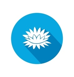 Lily flower icons Water-lilies floral symbol vector image vector image