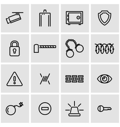 line security icon set vector image vector image
