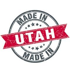 Made in utah red round vintage stamp vector