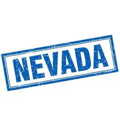 Nevada blue square grunge stamp on white vector